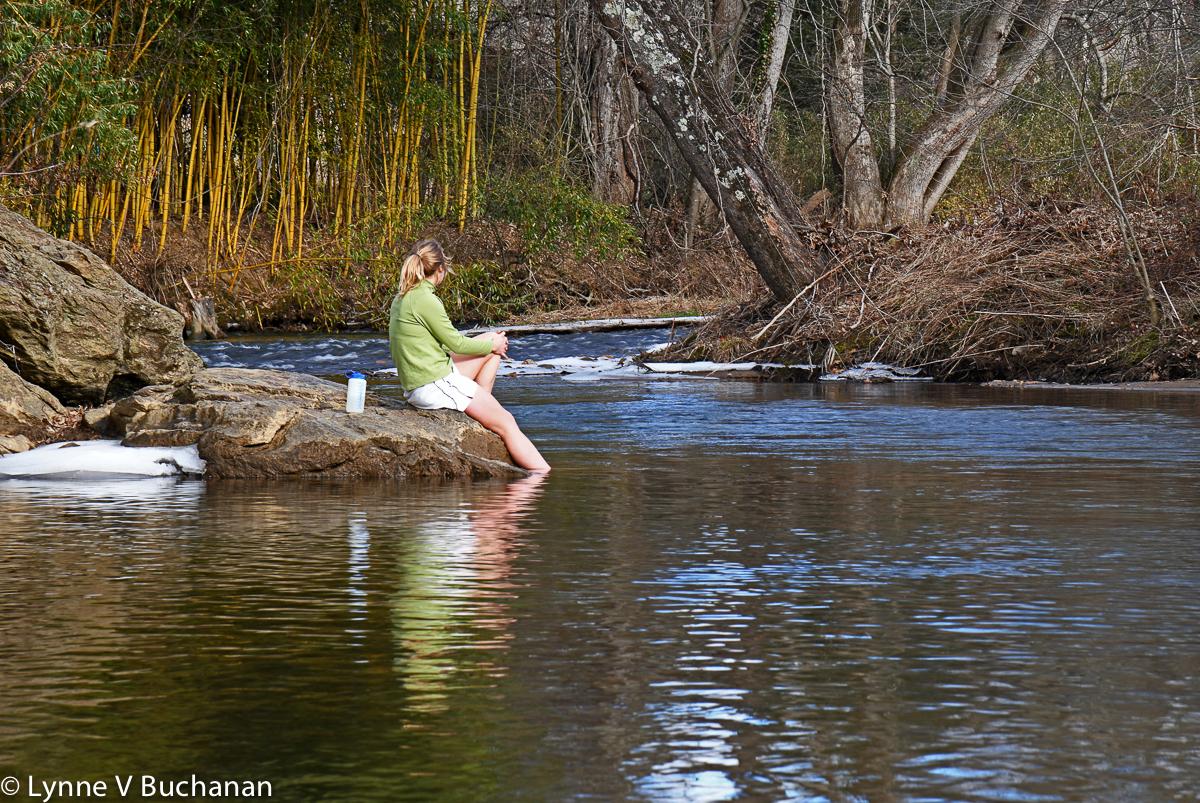 Warren Wilson Student Testing the Waters