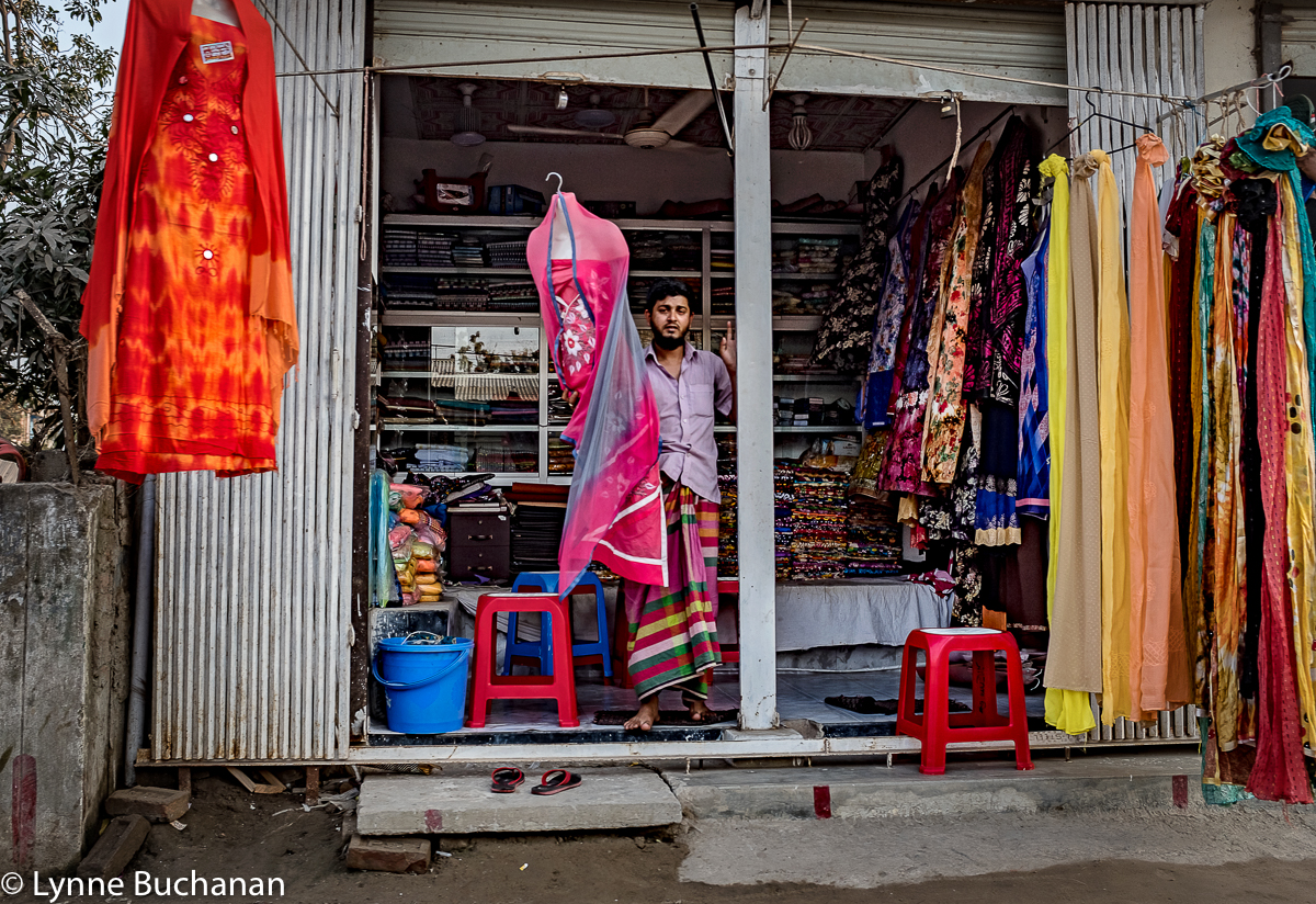 Dress and Scarf Vender Near The Textile Plants6143.jpg