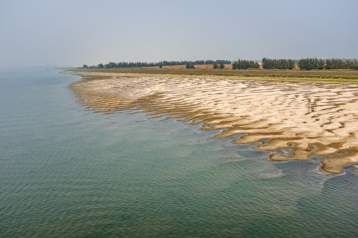 Padma River with Reduced Flow