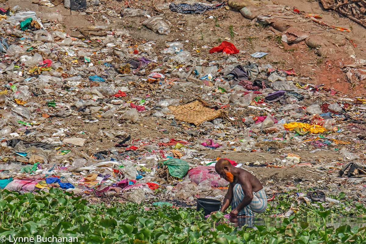 Washing Refuse in the Buriganga River