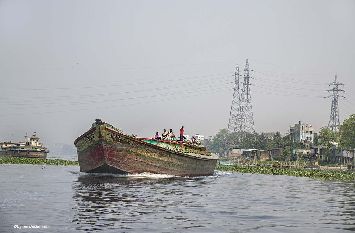 Barges Barreling Down the Buriganga River
