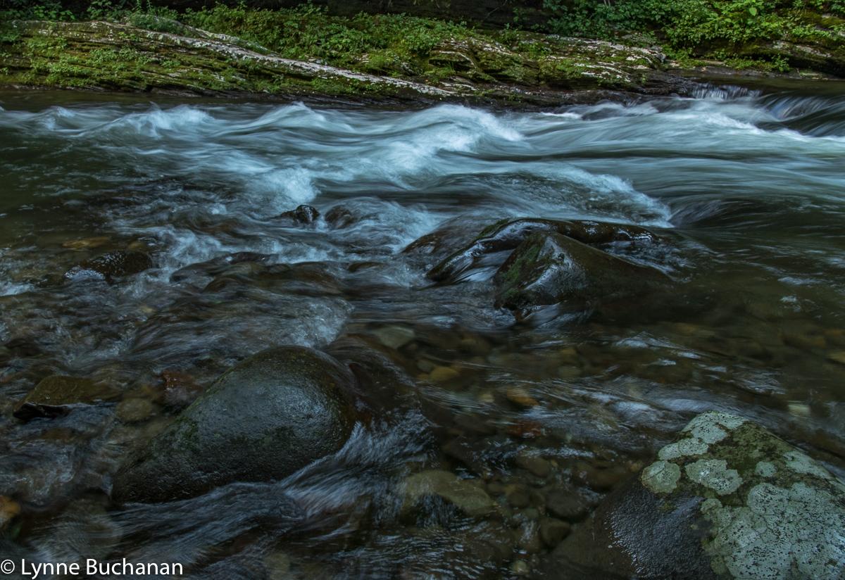 Deep Creek Flowing over Ledges