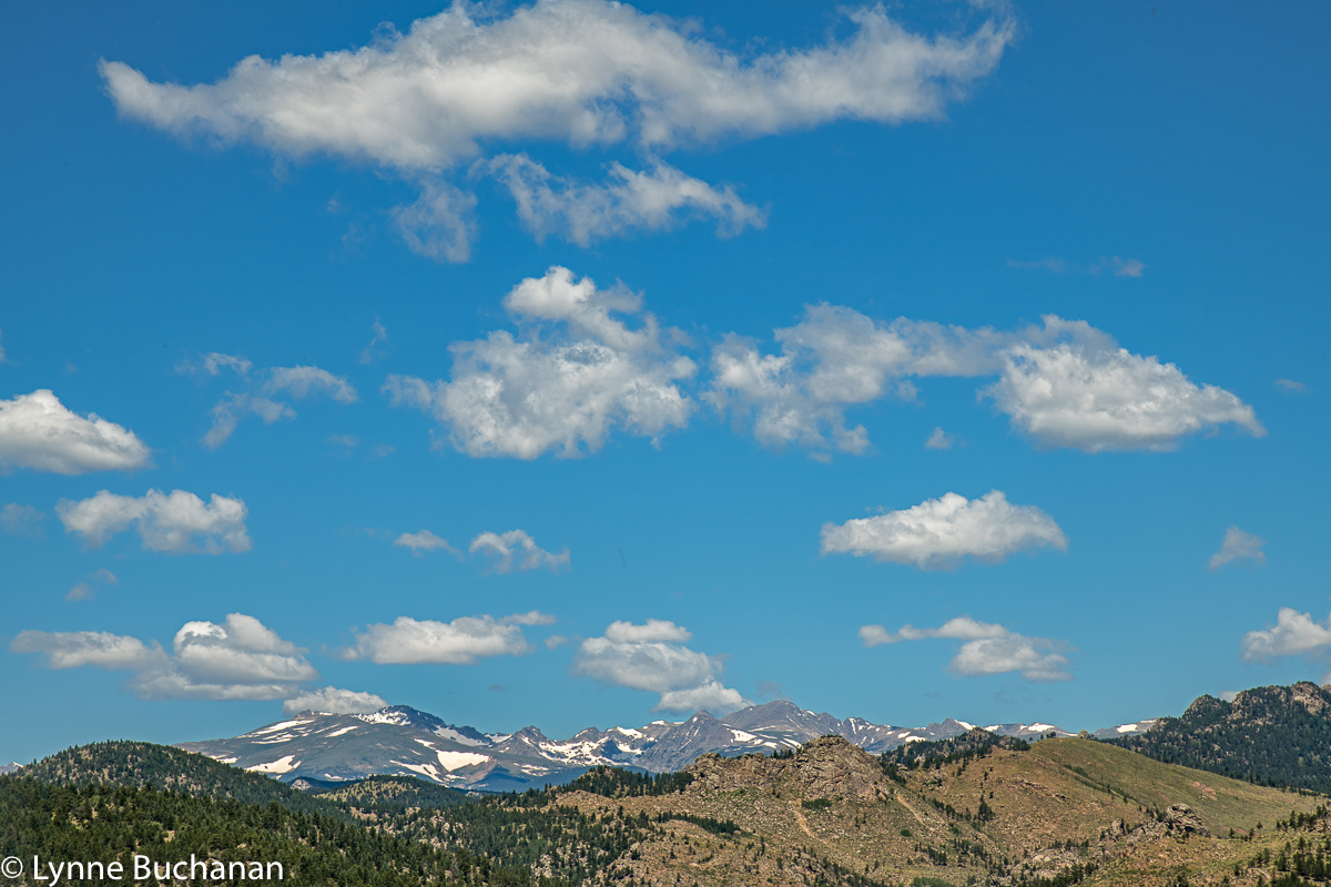 Eldorado Canyon Continental Divide View with Cloudscape