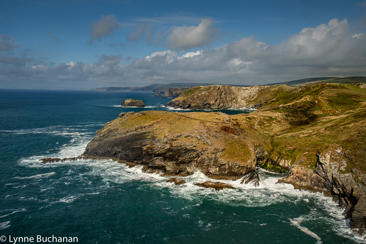 The View from Tintagel Castle