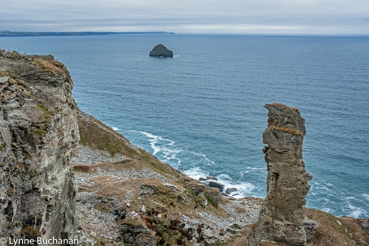 Tintagel Coast with Sea Stack
