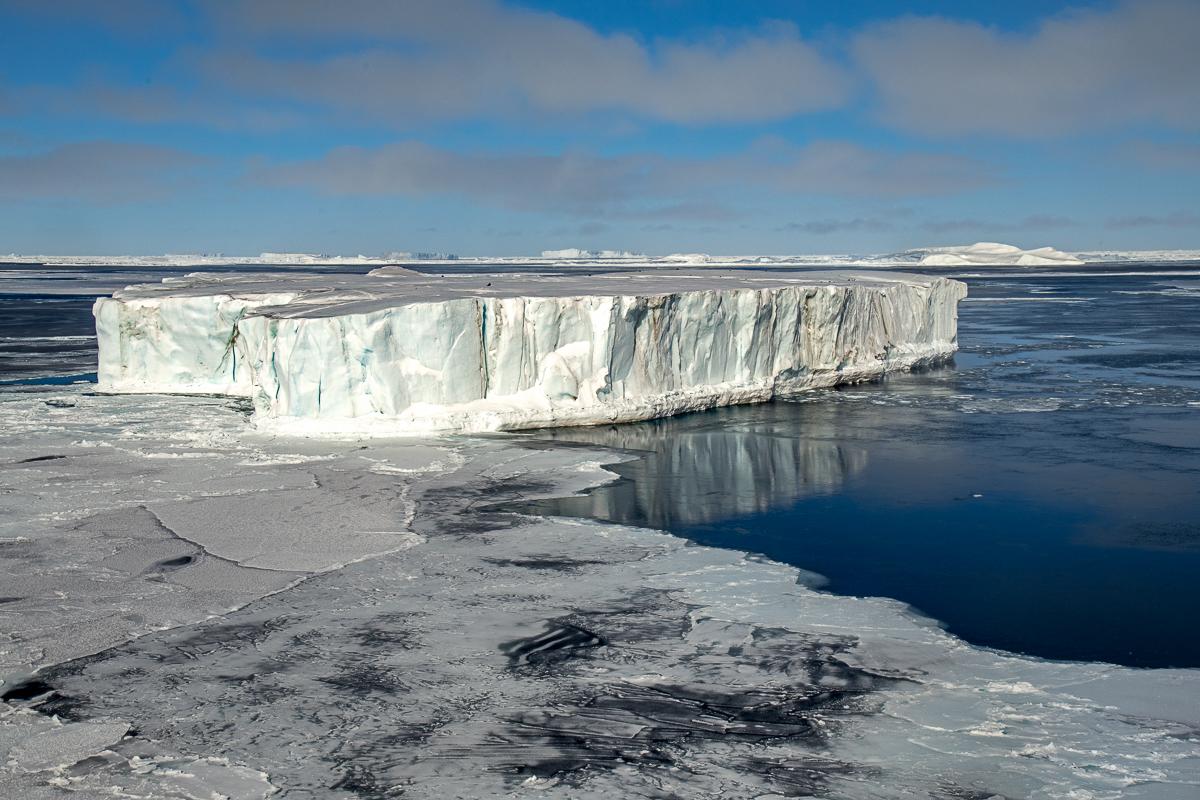 Tabular Iceberg in the Sea Ice, Weddell Sea