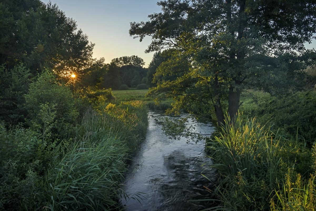 Sun Setting over the Czarna Hancza River