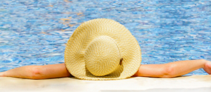 woman resting beach