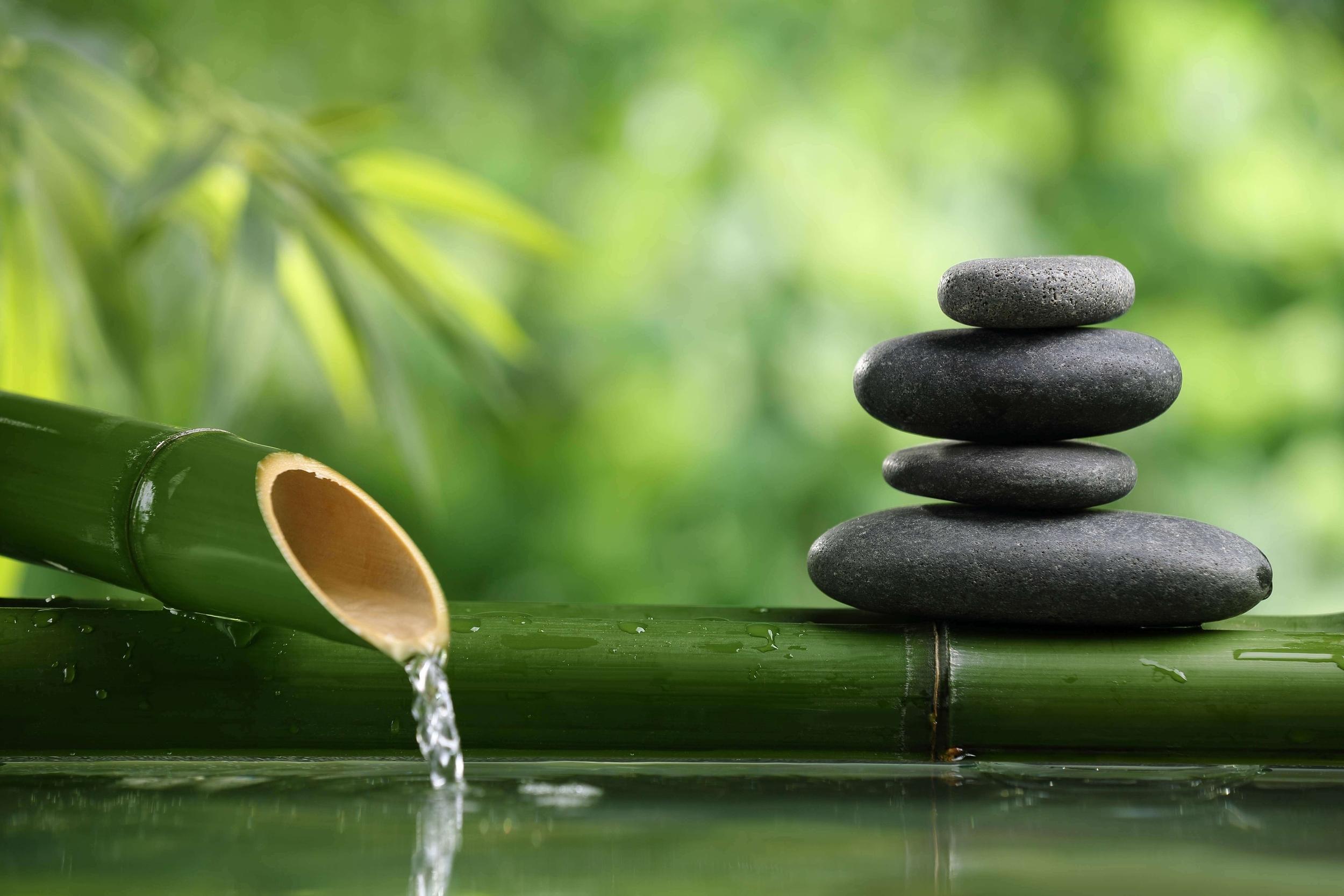 bamboo stone water zen