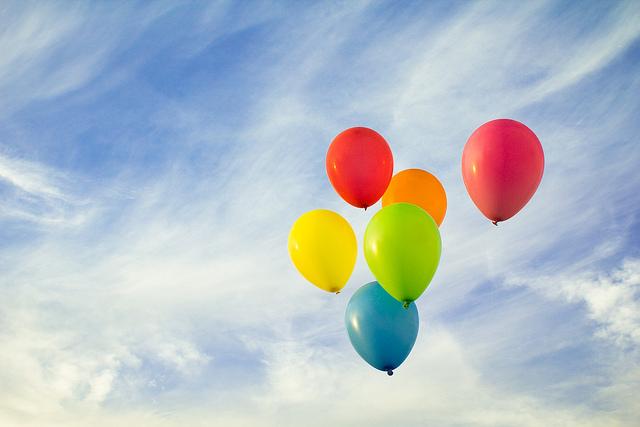 colourful balloons sky
