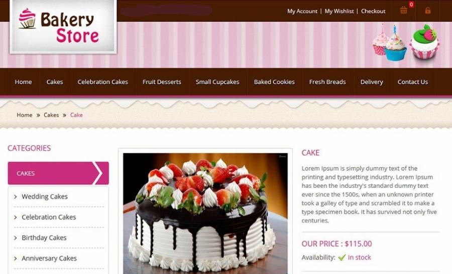 bakery webpage
