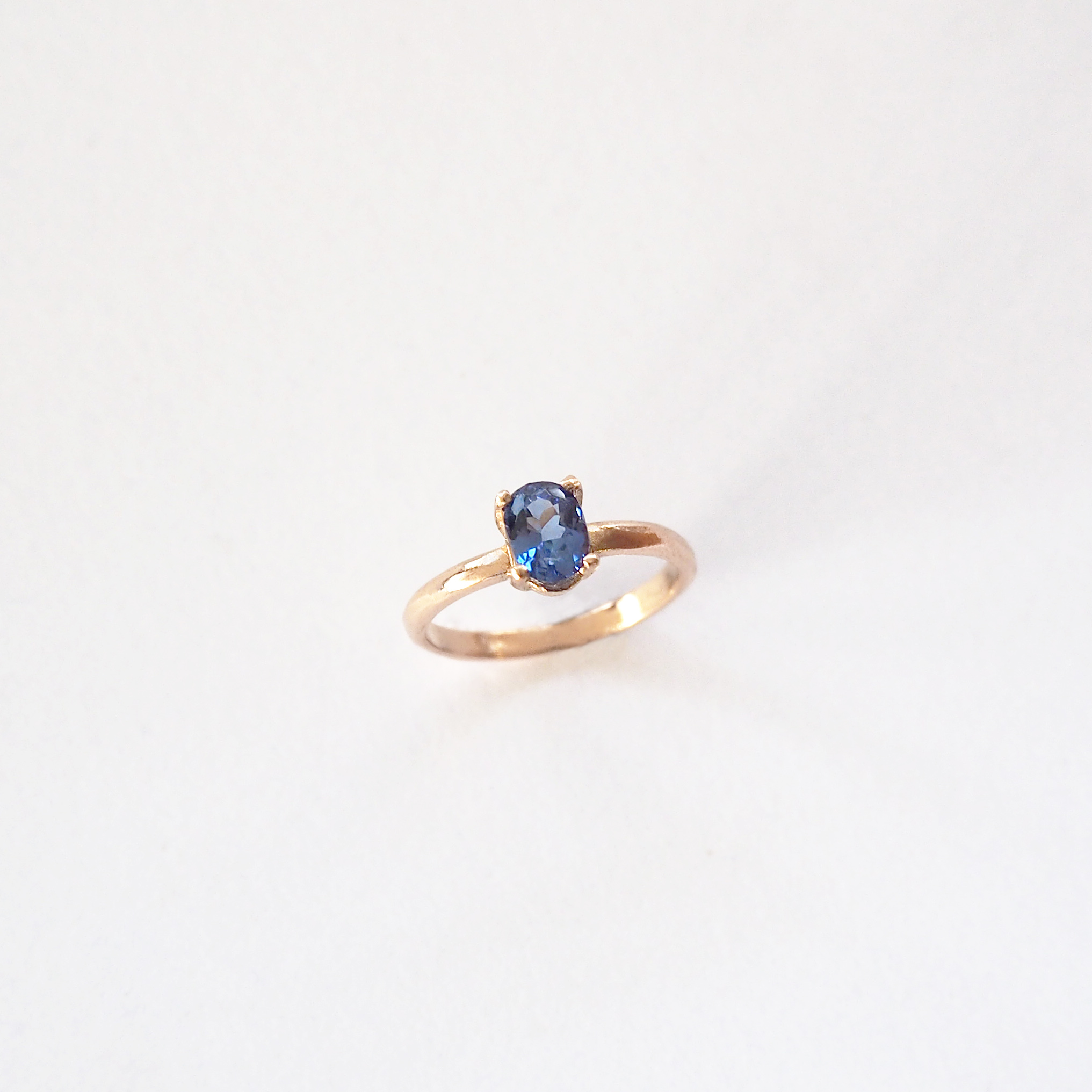 Emma Field-2016-Tanzanite and Rose Gold Ring