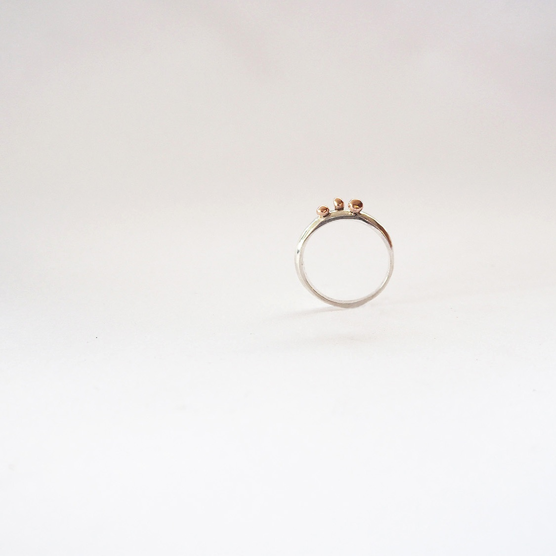 Bauble Ring  2016, Sterling Silver, 9k Rose gold
