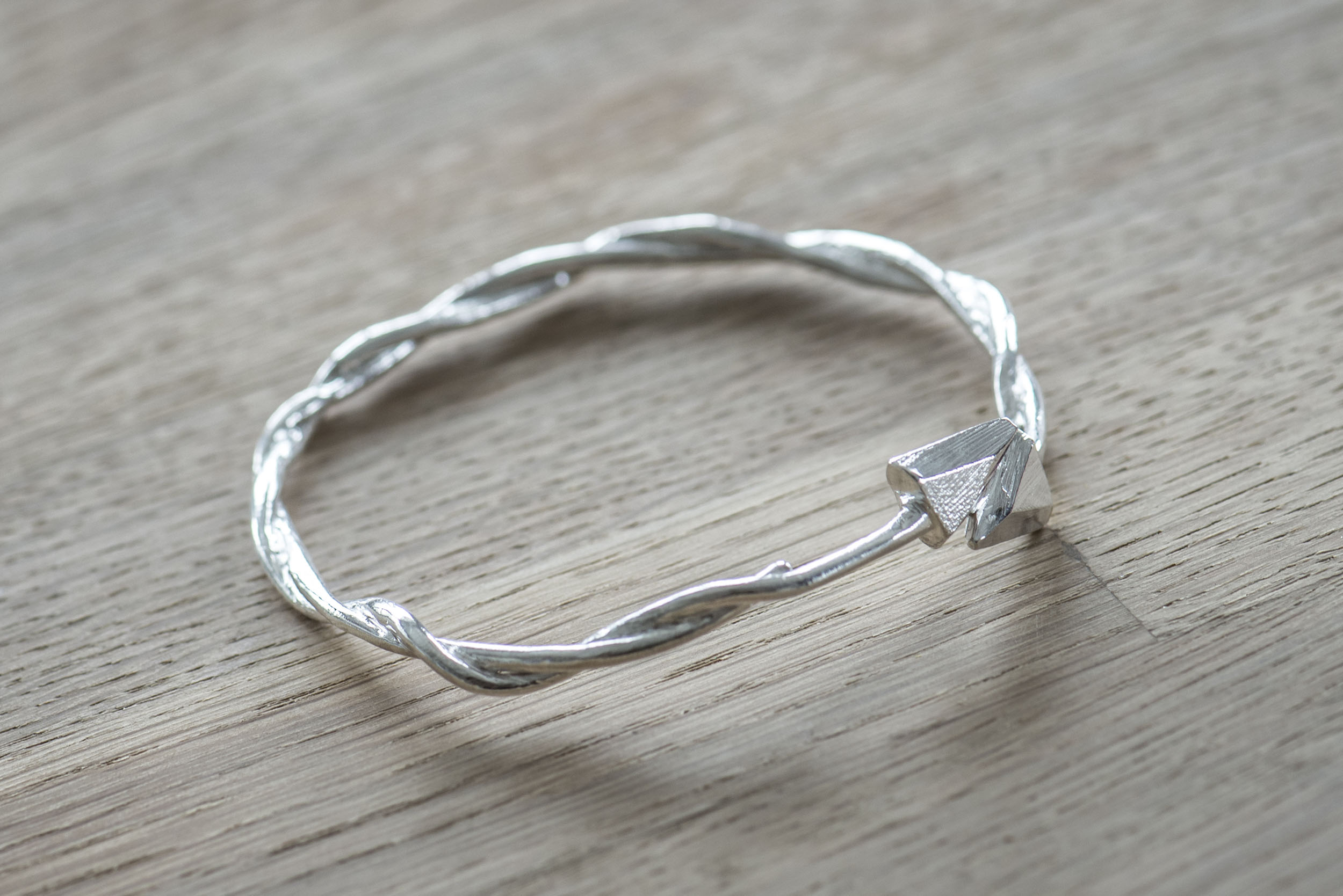 Arrow Bangle Top - Sterling Silver