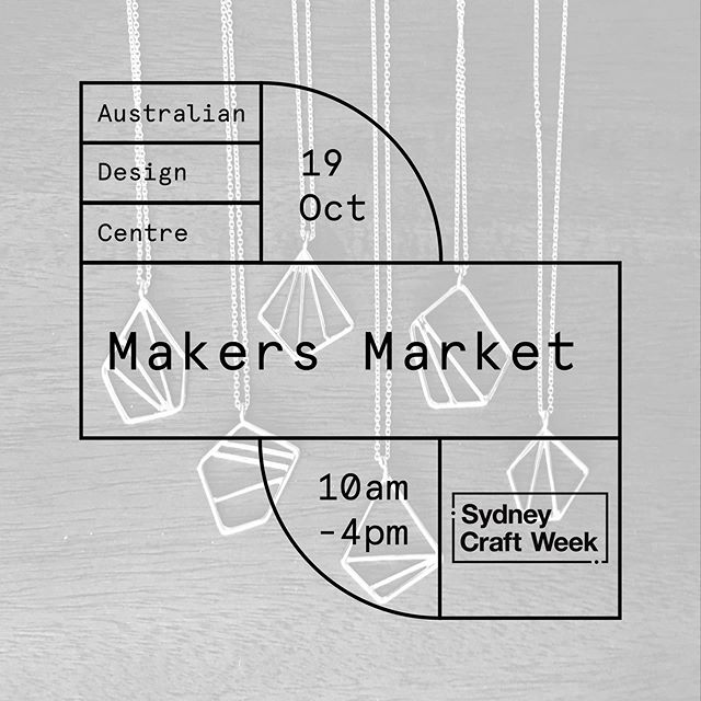 The @australiandesigncentre Makers Market is on this Saturday from 10-4pm! ✨💍⁣ ⁣  I'll be with @minjimorphic and @rebecca_hinwood_jewellery representing @jmga_nsw . We can't wait to see you there! ☀️⁣ ⁣ ⁣ #jmga #makersmarket #handmade #market #sydneycraftweek2019 @sydneycraftweek
