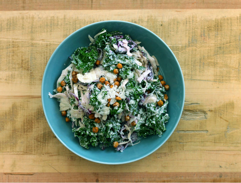 Kale & Cabbage Caesar