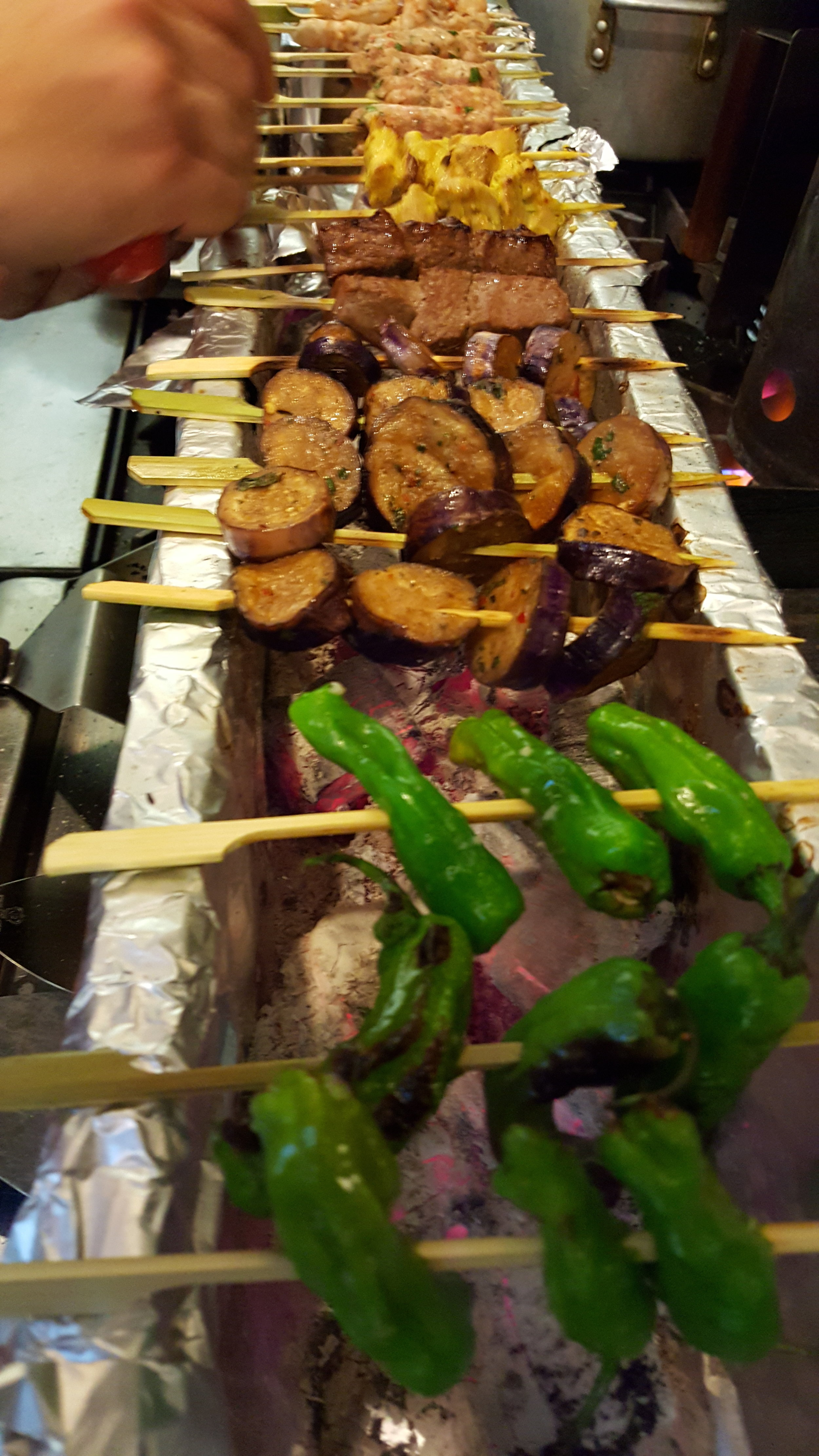 Satays were a big part of the concept, here are some grilling