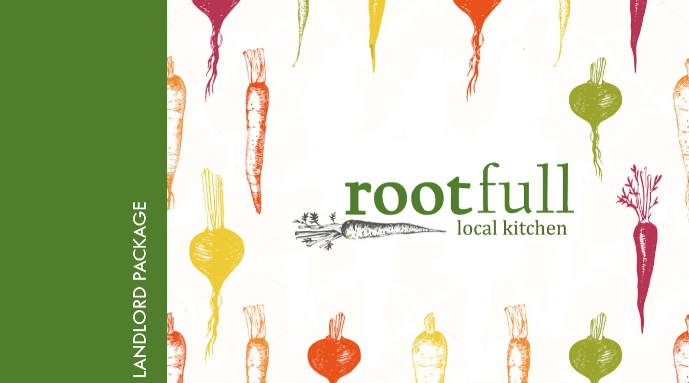 Cover of one of our branding packages, as you can see we toyed with the name Rootfull before deciding on Farm'r