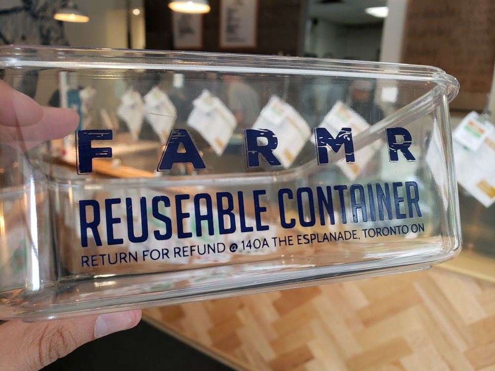 Here is our reusable plastic container