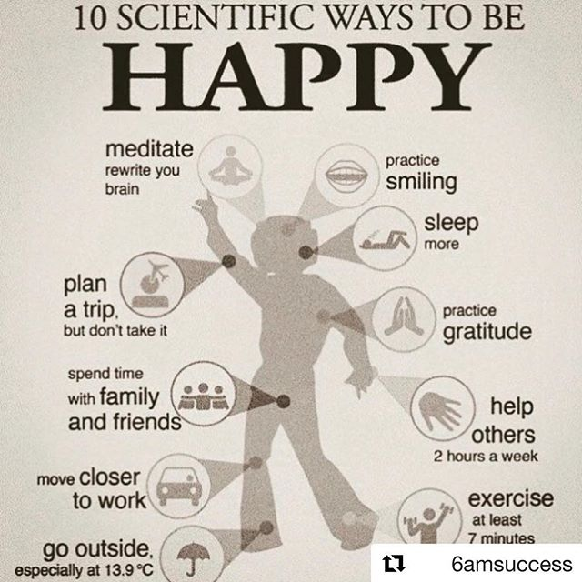 Stay happy. Which practice will you try this week? #Repost @6amsuccess