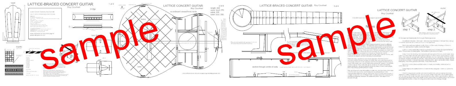 4 sheets of A2 paper 420 mm x 594 mm (16.5 inches x 23.4 inches) with full construction details