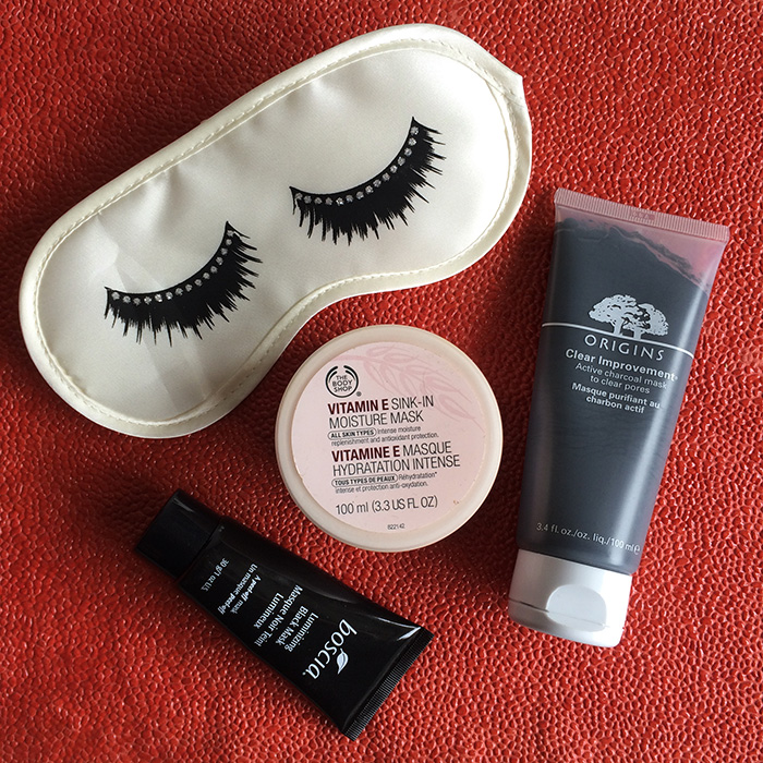 From Left To Right:    Boscia Luminizing Black Mask, 2) The Body Shop Vitamin E Sink-In Moisture Mask, and 3) Origins Clear Improvement Active Charcoal Mask