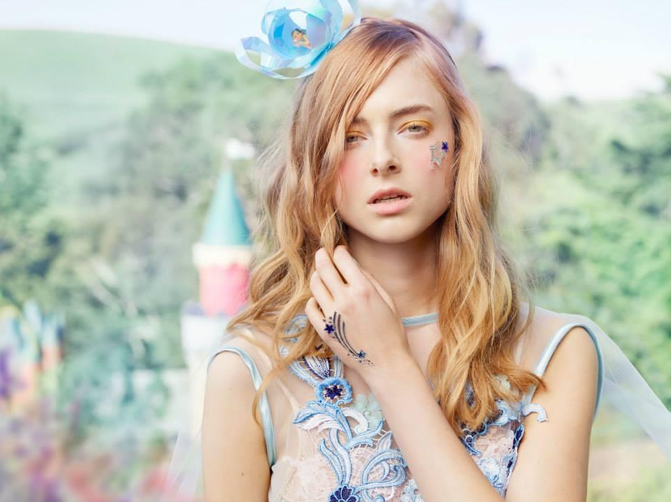 Lady Petrova - Sixteen SS15 - 'Fairy Cave' Headpiece by The Human Chameleon.jpg