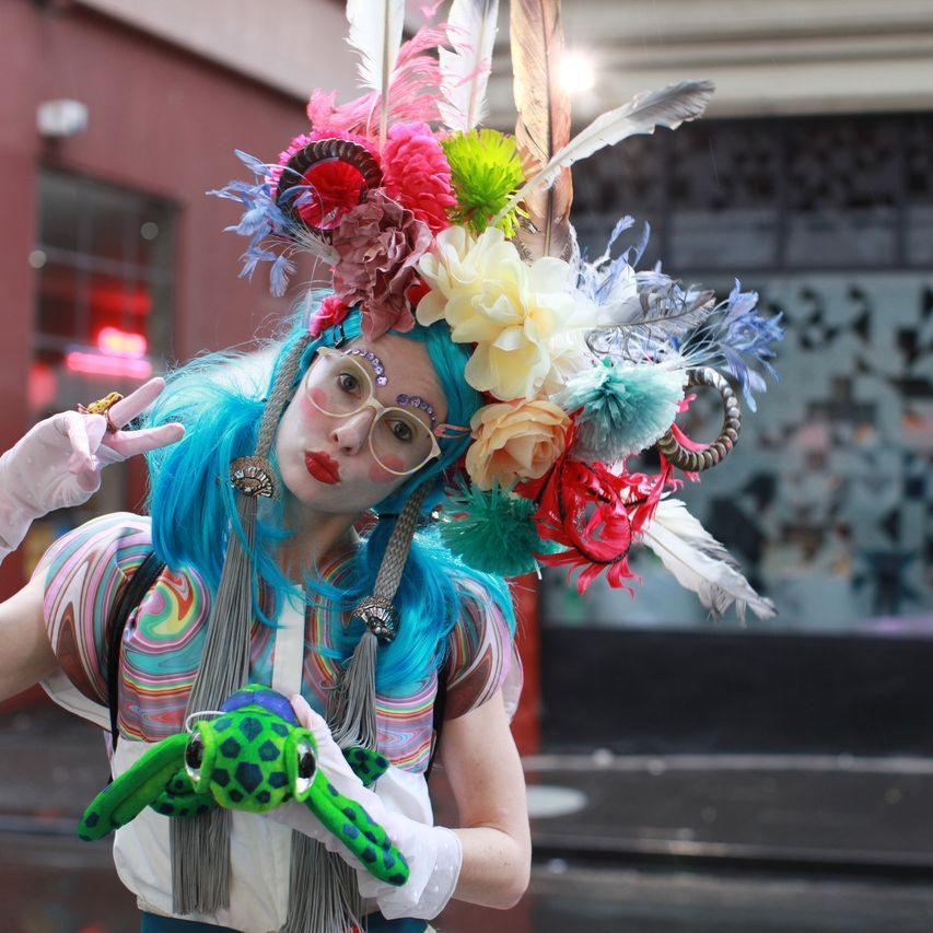 The Human Chameleon - Kristine - Harajuku Costume - Rice Workshop.jpg