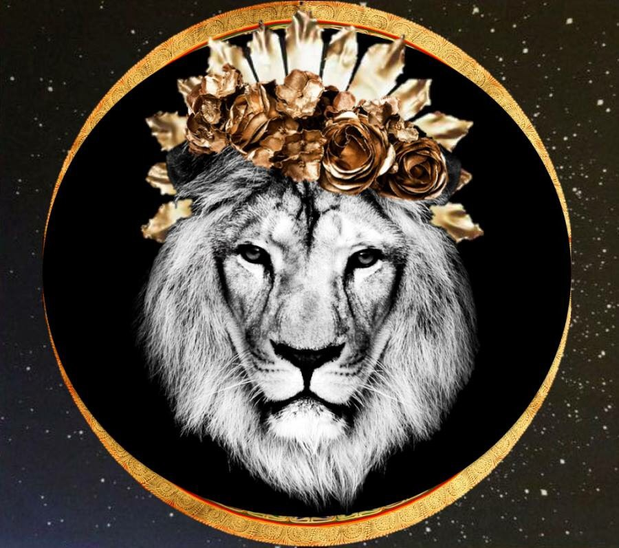 Lion image artist unknown. Please notify if you know who created this.