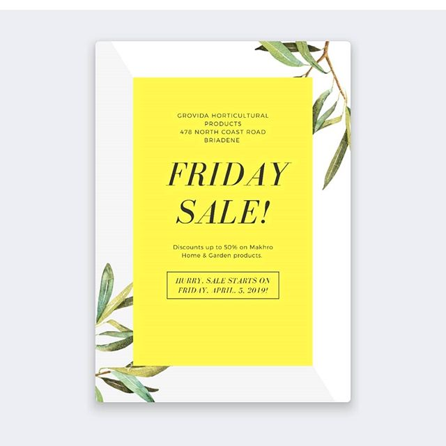 The fact that it's Friday is great...but a sale will make it an awesome Friday.  Stay tuned for more information 😁 . . . #theeasylife #gardeningtips #garden #insect #pyrethroids #theeasylifeofadog #flowerpower #easygreen #sale
