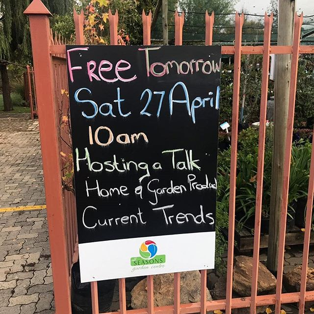 The day has arrived and we are in Harrismith for a very informative talk at All Seasons Garden Centre. Come through to learn about our products and how to use them ethically.