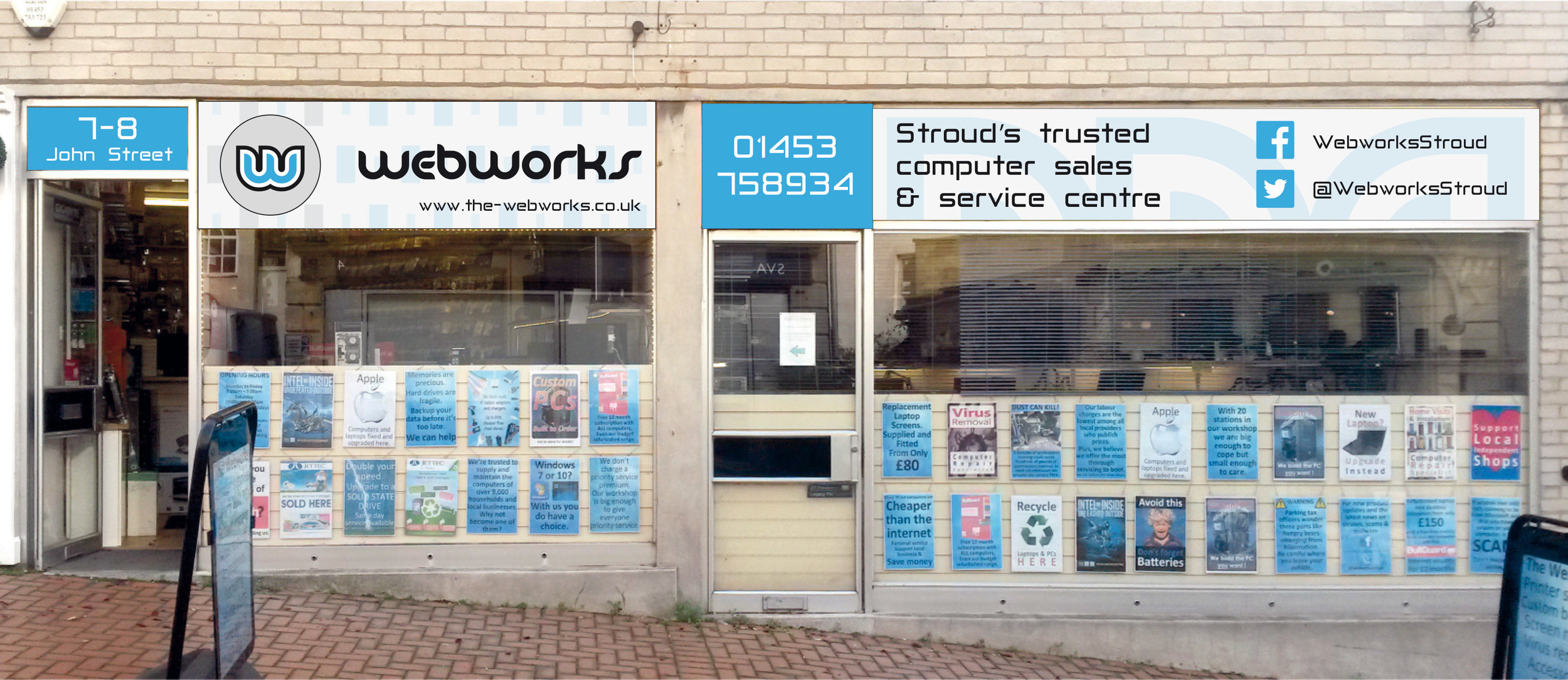 Signage design for new shop frontage signs.