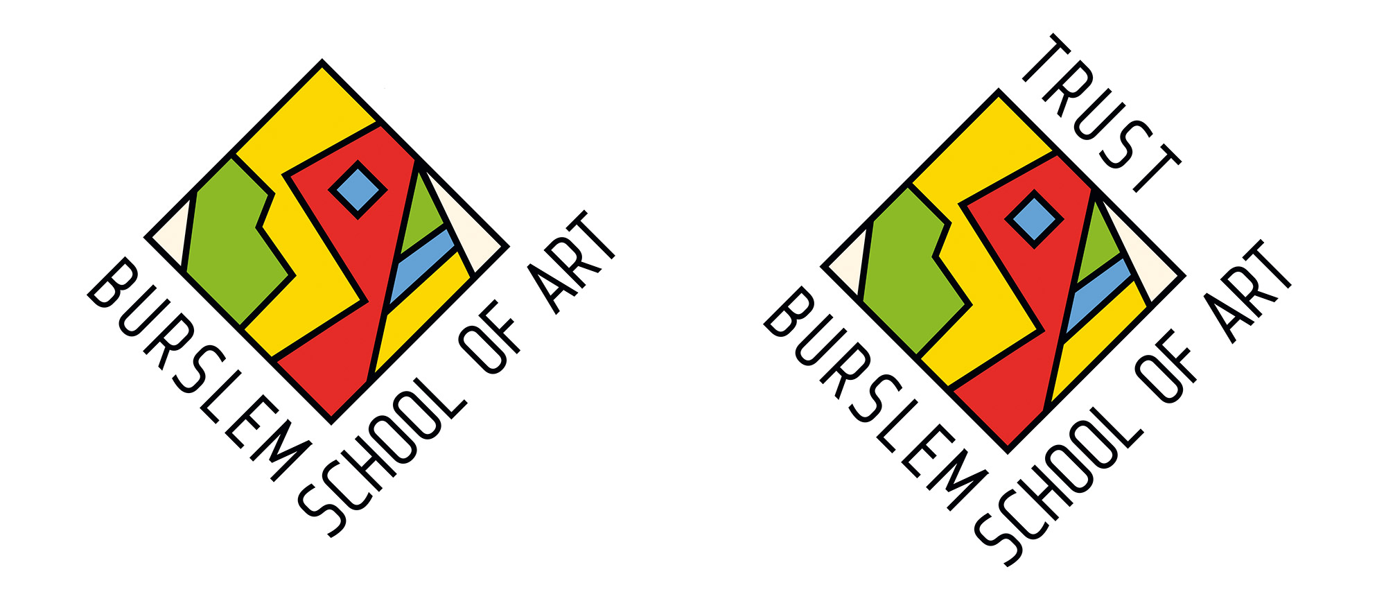 Burslem School of art Trust logo design branding