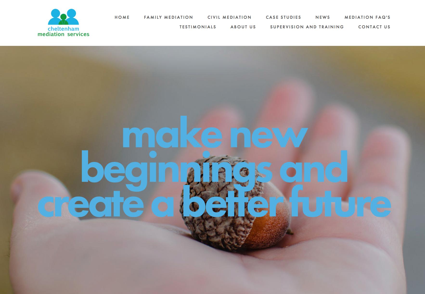 Website redesign using the Squarespace platform.