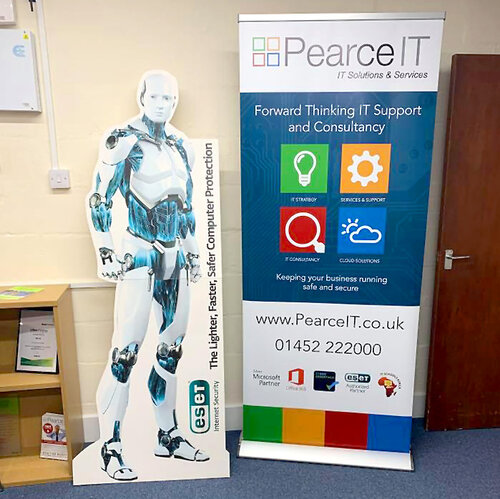 Popup banner in Gloucestershire office
