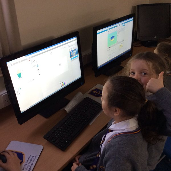 "Year 3 working on their programming unit ""We are Programmers"""