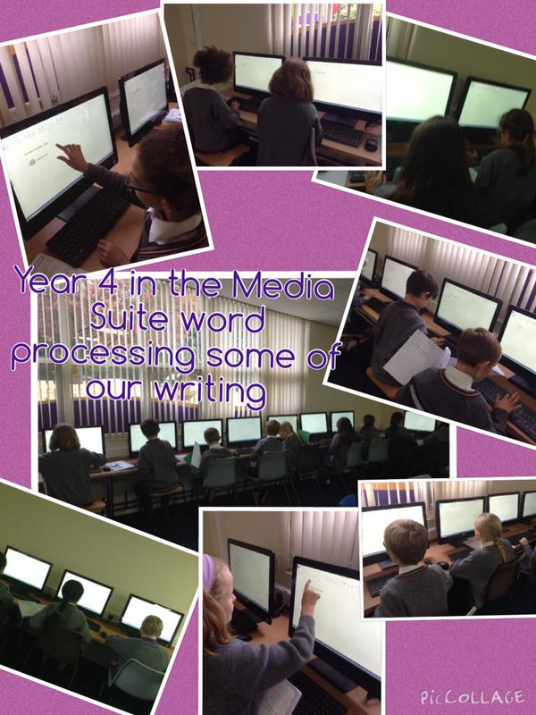 Computing time for Year 4 – working on their typing speed.