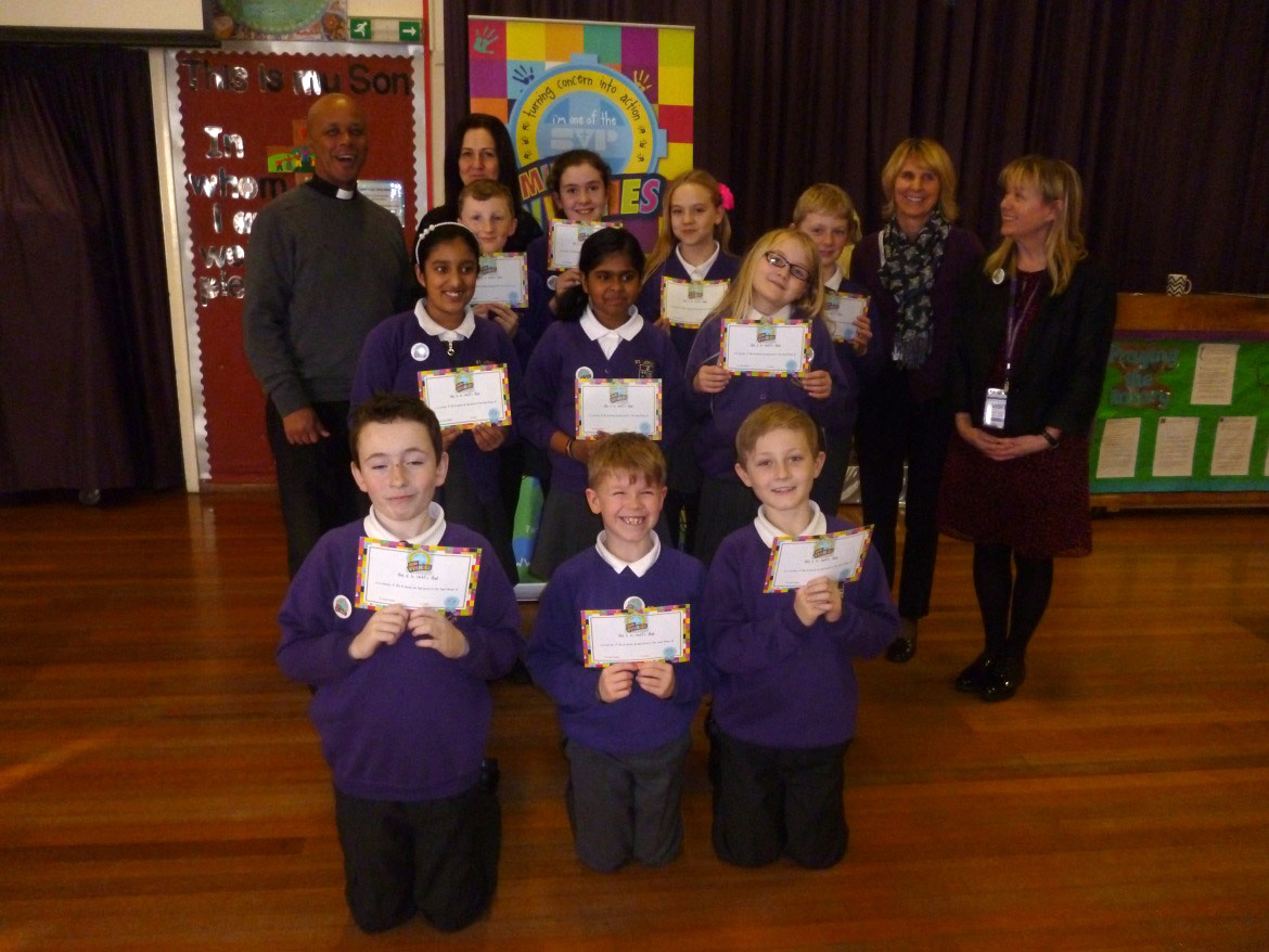 Photo:We are all incredibly proud to be part of our school's Mini Vinnie group.