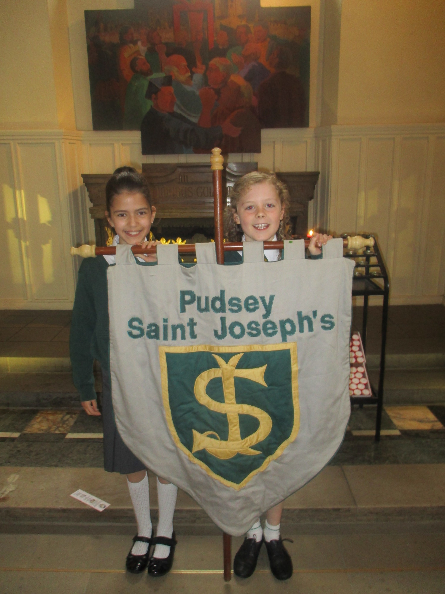 Olivia and Eleanor represented St. Joseph's, Pudsey.