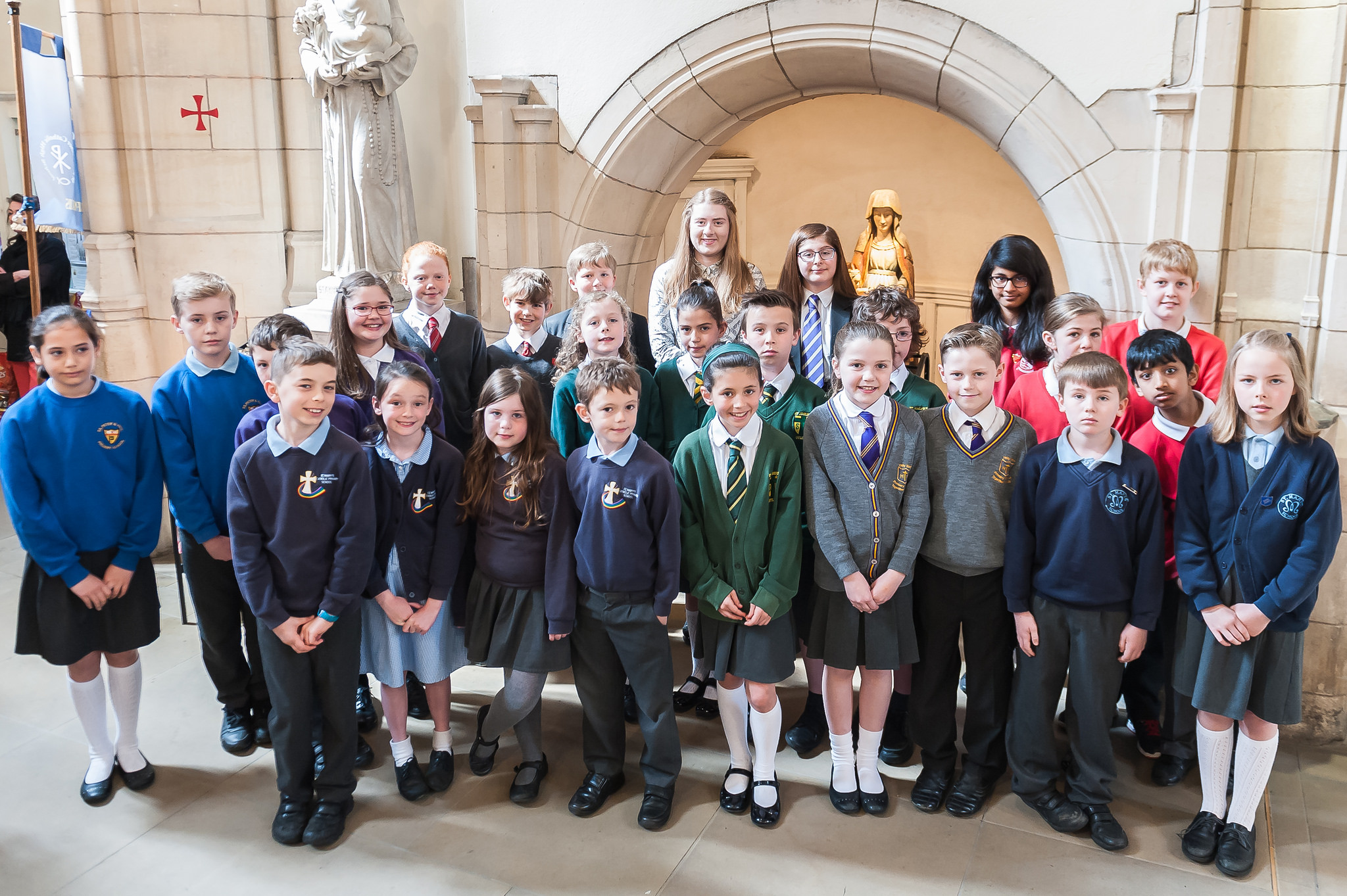 Photo: Pupils from all ten schools in our Trust at the Good Shepherd Service, 6 May 2016