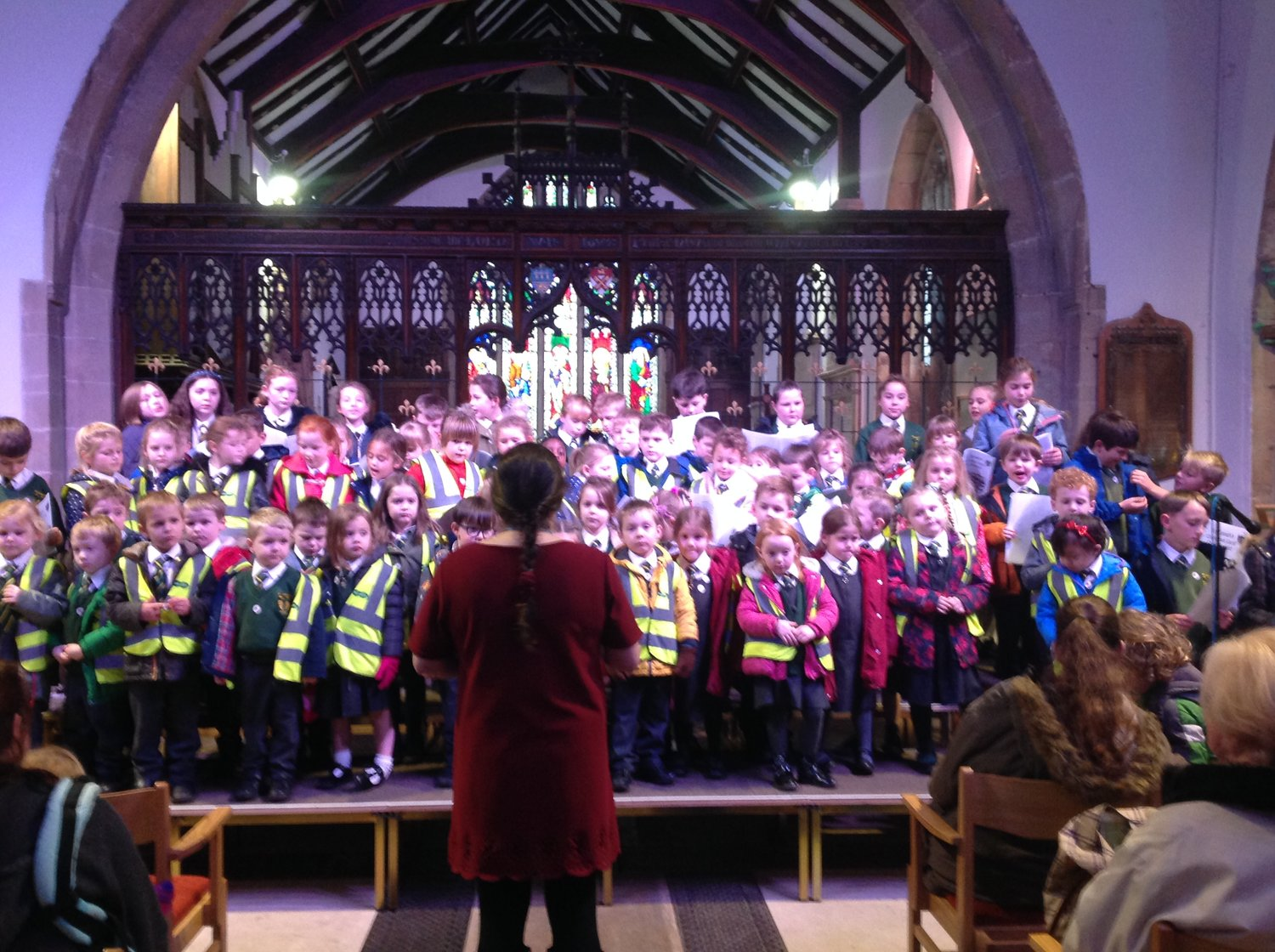 Photo: Singing at the Otley Christmas Tree festival