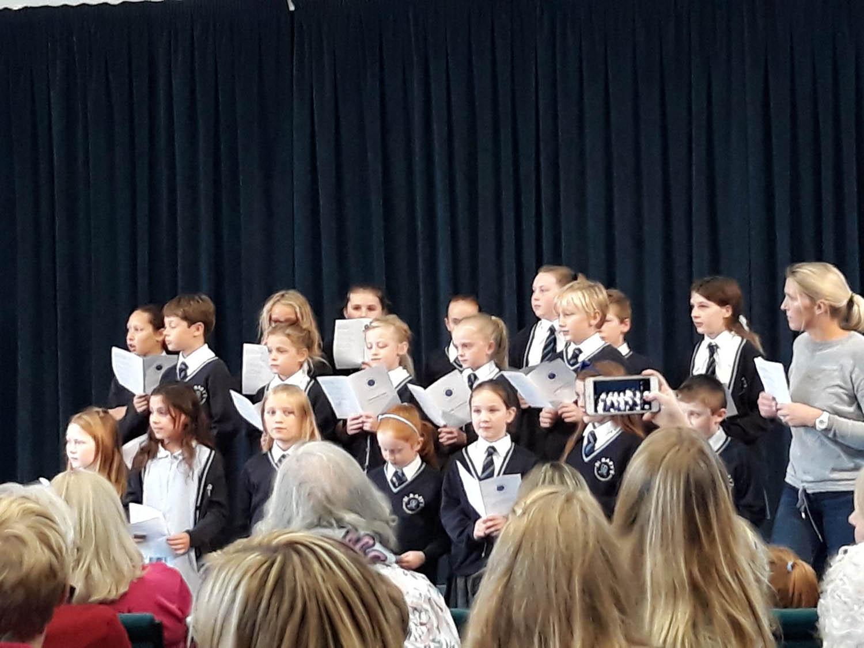 St. Mary's Choir sang beautifully