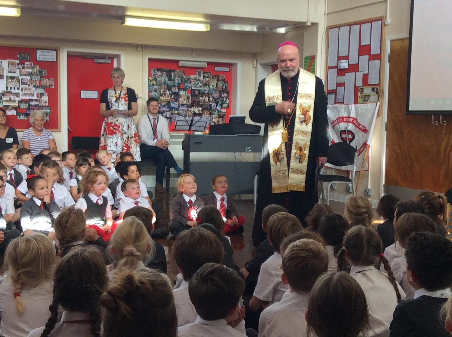 Bishop Marcus receives an enthusiastic welcome at Sacred Heart