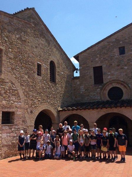 Photo: Mass and tour at San Damiano, Monday 3rd June 2019