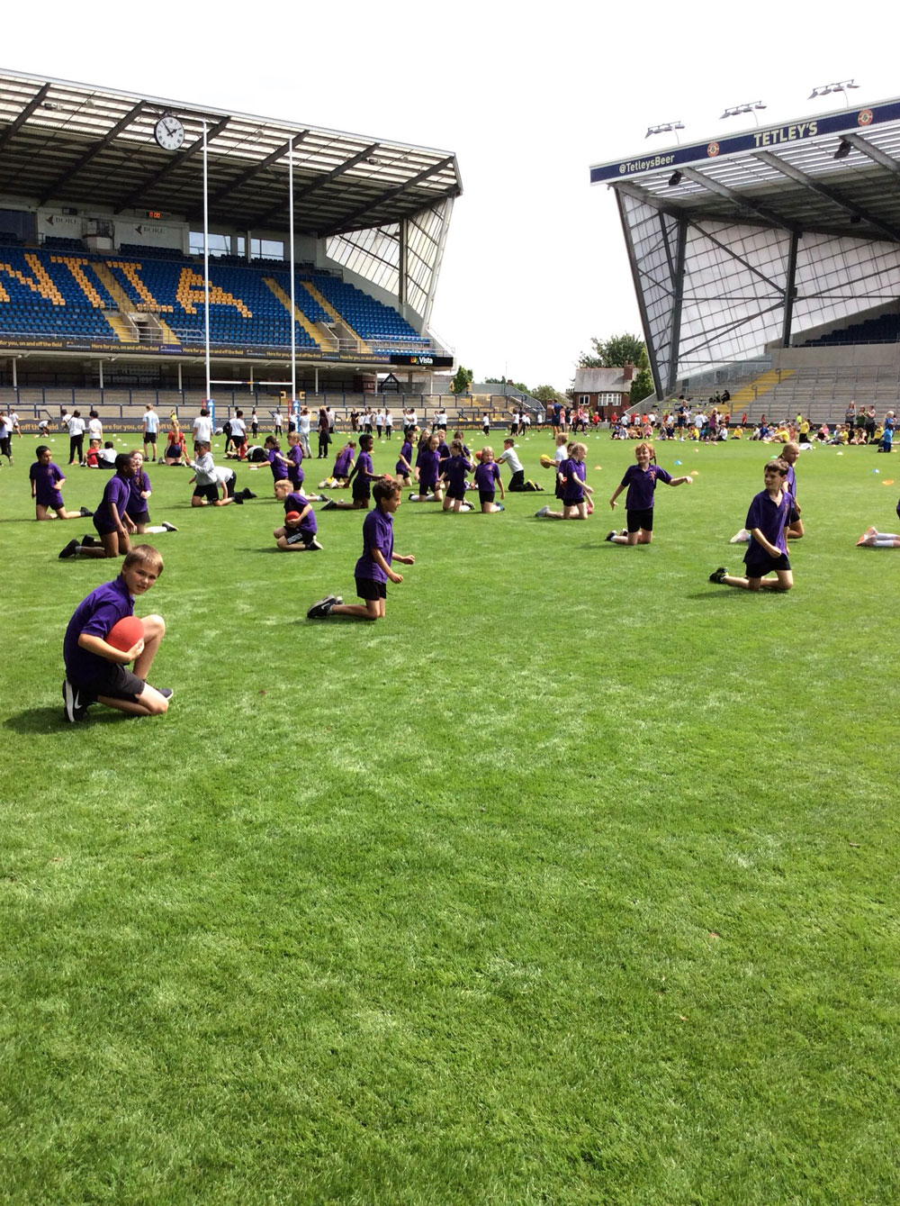 Photo: Year 5 take to the field