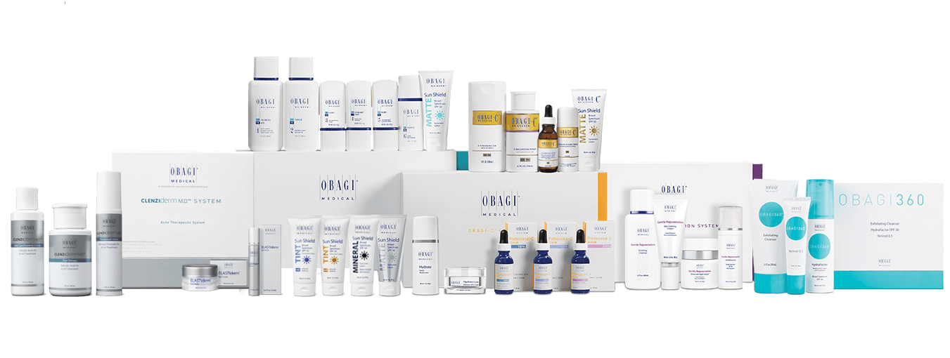 A quick view of the world of Obagi. There's a lot here because no two skin concerns are the same, and Obagi continuously researches and improves its products to deliver unparalleled results. Obagi systems work by changing the way the skin functions at a cellular level.