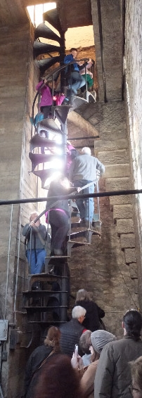 Visitors Climb The McGaffin Tower