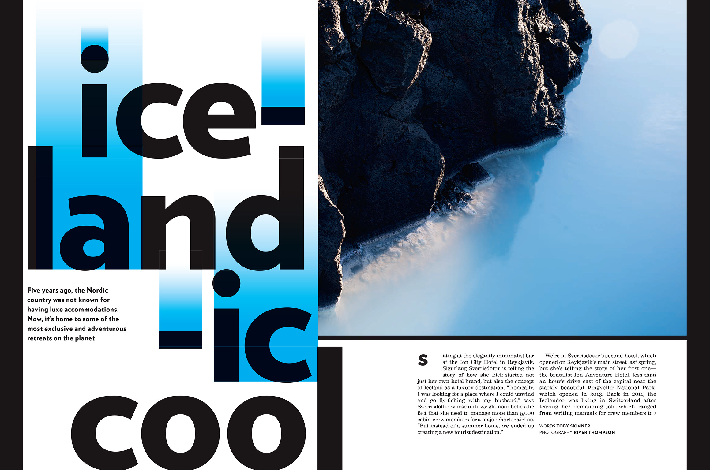"""""""ICELANDIC COOL"""" FEATURE FOR CELEBRATED LIVING MAGAZINE, 2018 