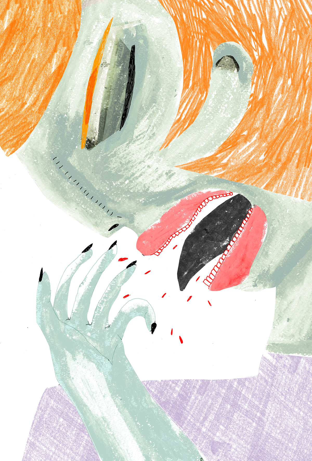 """""""cough"""" personal illustration, 2018"""