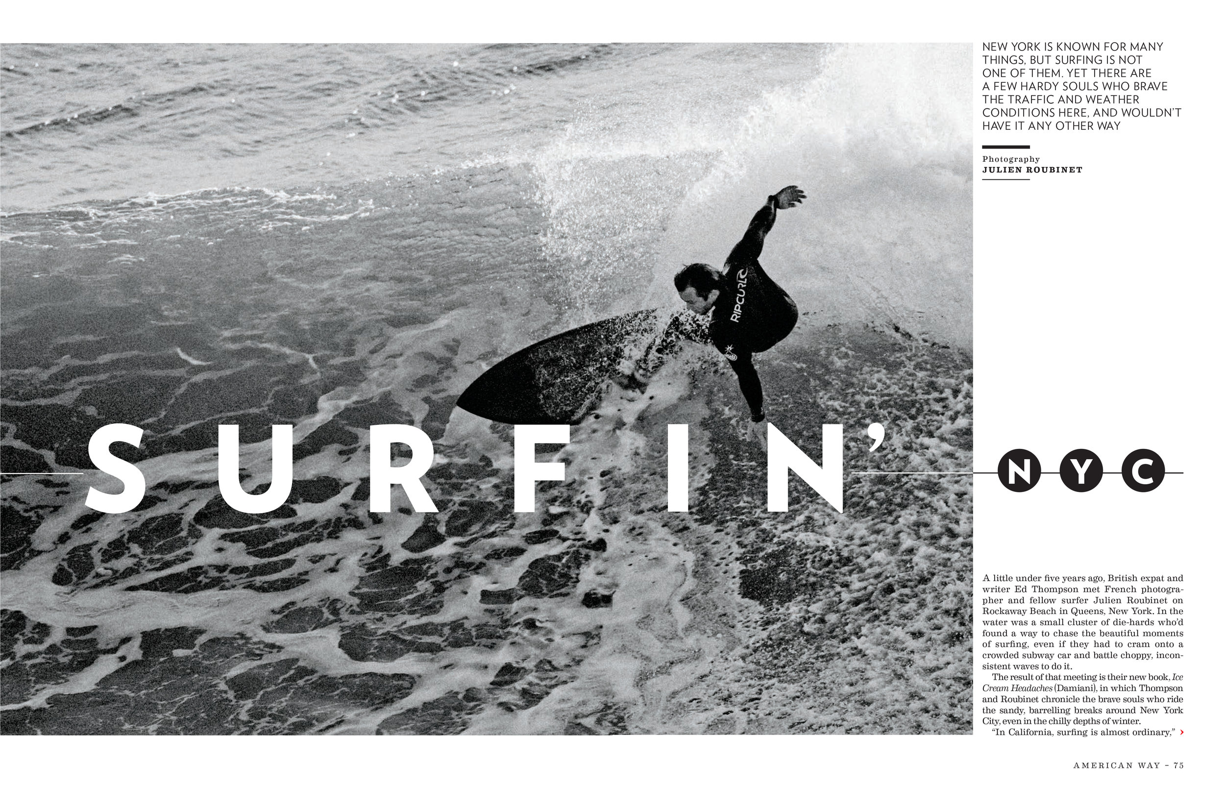 """""""Surfin nyc"""" feature for american way, 2018 